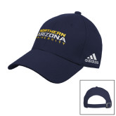 Adidas Navy Slouch Unstructured Low Profile Hat-Northern Arizona University Stacked