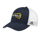 Adidas Navy Structured Adjustable Hat-NAU Primary Mark