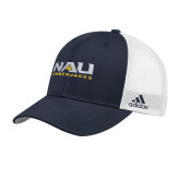 Adidas Navy Structured Adjustable Hat-NAU Lumberjacks Stacked