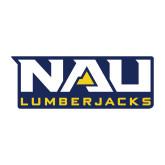 Medium Magnet-NAU Lumberjacks Stacked, 8 inches wide