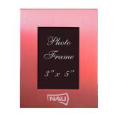 Pink Brushed Aluminum 3 x 5 Photo Frame-NAU Primary Mark Engraved