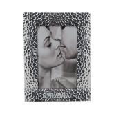 Silver Textured 4 x 6 Photo Frame-Northern Arizona University Stacked Engraved