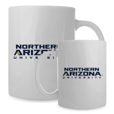 Full Color White Mug 15oz-Northern Arizona University Stacked