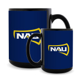 Full Color Black Mug 15oz-NAU Primary Mark