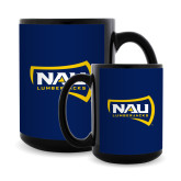 Full Color Black Mug 15oz-NAU Lumberjacks