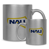 11oz Silver Metallic Ceramic Mug-NAU Primary Mark