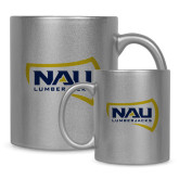 11oz Silver Metallic Ceramic Mug-NAU Lumberjacks