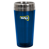 Solano Acrylic Blue Tumbler 16oz-NAU Primary Mark