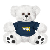 Plush Big Paw 8 1/2 inch White Bear w/Navy Shirt-NAU Primary Mark
