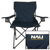 Deluxe Navy Captains Chair-NAU Lumberjacks Stacked