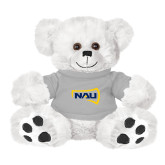 Plush Big Paw 8 1/2 inch White Bear w/Grey Shirt-NAU Primary Mark