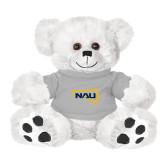 Plush Big Paw 8 1/2 inch White Bear w/Grey Shirt-NAU Primary Mark