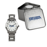 Ladies Stainless Steel Fashion Watch-Northern Arizona University Stacked