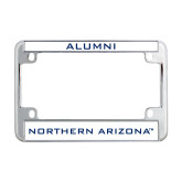 Metal Motorcycle License Plate Frame in Chrome-Northern Arizona