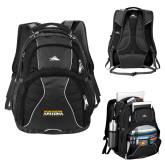 High Sierra Swerve Black Compu Backpack-Northern Arizona University Stacked