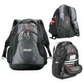 Wenger Swiss Army Tech Charcoal Compu Backpack-Northern Arizona University Stacked
