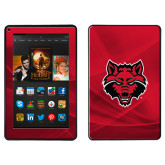 Kindle Fire Skin-Red Wolf Head