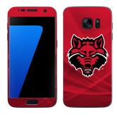 Samsung Galaxy S7 Skin-Red Wolf Head