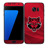 Samsung Galaxy S7 Edge Skin-Red Wolf Head