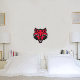 1 ft x 1 ft Fan WallSkinz-Red Wolf Head