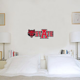 1 ft x 2 ft Fan WallSkinz-Red Wolf Head w/A State