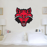 3 ft x 3 ft Fan WallSkinz-Red Wolf Head