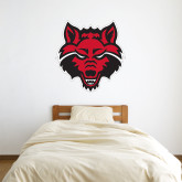 3 ft x 3 ft Fan WallSkinz-Red Wolf Head