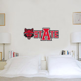 1.5 ft x 3 ft Fan WallSkinz-Red Wolf Head w/A State