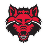 Medium Decal-Red Wolf Head, 8 in H