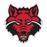 Medium Decal-Red Wolf Head, 8 in tall