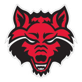 Large Decal-Red Wolf Head, 12 in H