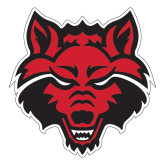 Large Decal-Red Wolf Head, 12 in tall