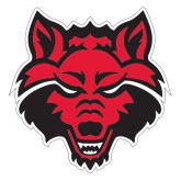 Extra Large Decal-Red Wolf Head, 18 in H