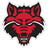 Extra Large Decal-Red Wolf Head, 18 in tall