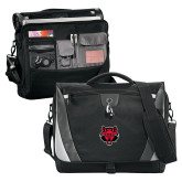 Slope Compu Black/Grey Messenger Bag-Red Wolf Head