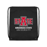 Black Drawstring Backpack-University Mark