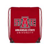 Red Drawstring Backpack-University Mark