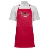 Full Length Red Apron-Red Wolves Stacked Head Centered