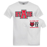 White T Shirt-A State, Personalized Class Of Tee
