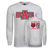 White Long Sleeve T Shirt-A State, Personalized Class Of Tee