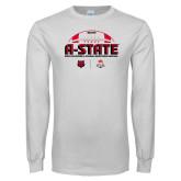 White Long Sleeve T Shirt-AState 2018 Arizona Bowl