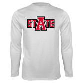 Performance White Longsleeve Shirt-A State