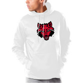 Under Armour White Armour Fleece Hoodie-Red Wolf Head