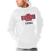 Under Armour White Armour Fleece Hoodie-Football