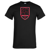 Black T Shirt-Soccer Shield
