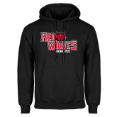 Black Fleece Hoodie-Red Wolves Stacked Head Centered