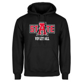 Black Fleece Hood-Volleyball