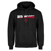 Black Fleece Hood-Red Wolves Two Tone