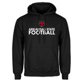 Black Fleece Hood-Football Stacked Text