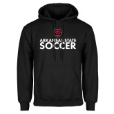 Black Fleece Hood-Soccer Stacked Text